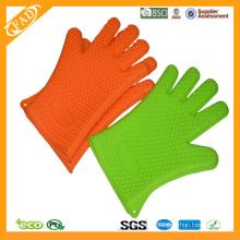 Promotion Top-Qualität FDA Standard Hitzebeständige Lebensmittel Grade Silikon Küche Kochen Handschuhe