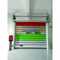 Automatic metal sectional garage door