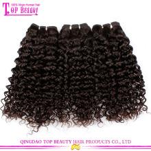 Qingdao factory supply grade 7a kinky curly 100% virgin european hair