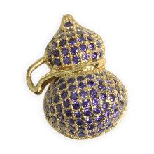 Joyería de la manera de la calabaza de la manera pendiente con el zircon púrpura del cubic