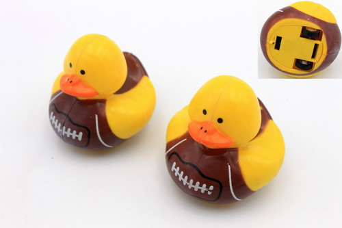 Soccer Imprinted Pull Back Duck Toy