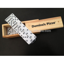 Wooden Box Domino game