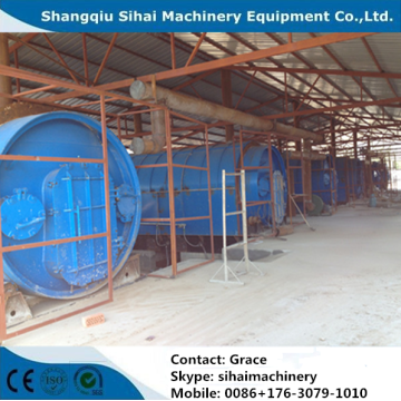 10Tons Waste Tire Recycling Production Line