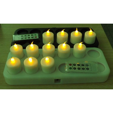 inductively Rechargeable LED tealight lilin dengan remote