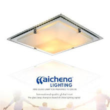 Modern glass indoor ceiling light for hotel and home