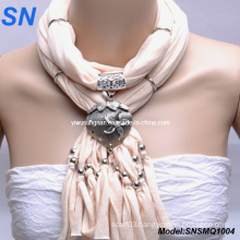 Fashion Heart Pendant Lady Scarf (SNSMQ1004)