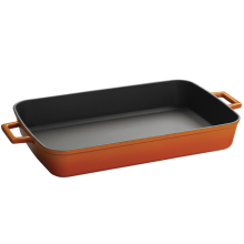 5.25QT Orange Gusseisen Backen / Lasagne Pan mit Loop Griff