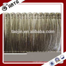 simple design and elegant brush tassel handed made tassel fringe and tassel for curtain decoration and other home textile
