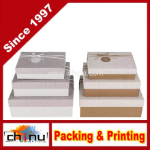 Caja de regalo de papel con OEM de encargo y en la acción (110386)