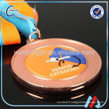 new arrival sport bronze medal with printing ribbon