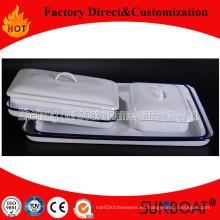 Bandeja de esmalte / bandeja rectangular / utensilios de cocina personalizados Sunboat