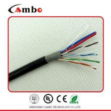 Câble siamois cat6 avec câble Ethernet d'alimentation