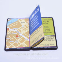 Magnetic folded phone book
