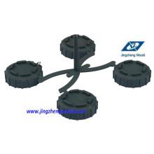 Molde do encaixe de tubulação do tampão da inspeção do PVC / molde