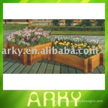 Outdoor Wooden Flowerpot