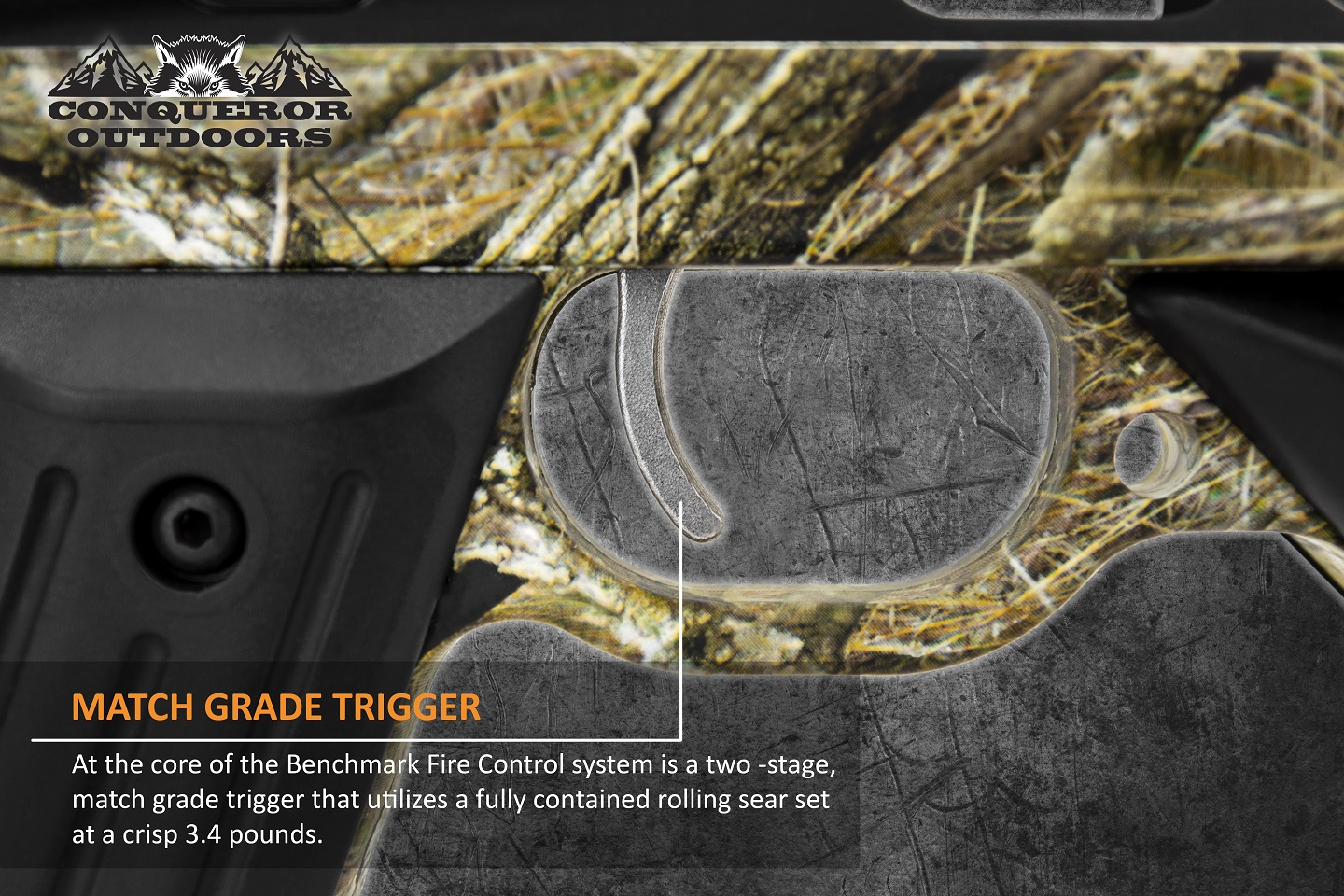 Mission Crossbow 400 Trigger Detail with Text