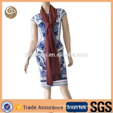 Вязаная мода 100% кашемир шарф