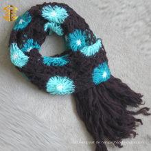 2015 Neue Art- und Weiseherbst-Blumen-Knit-Schal und Schal für Erwachsene