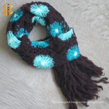 2015 New Fashion Autumn Flower Knit Scarf And Shawl For Adults