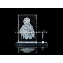 Engraved Jesus Crystal Penstand (R3010)