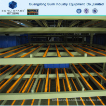 Flow Self Slide Steel Roller Warehouse Rack de almacenamiento