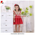 Rotes Chiffon embroideried Kleid des Kindermädchensommers