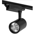 Single head black and white led track light