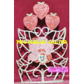 fashion headwear party costume stawberry crown ornaments