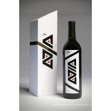 Lujo modificado para requisitos particulares caja de regalo del vino impreso Logotipo