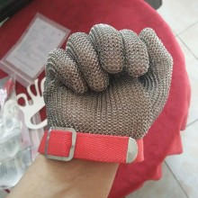 Stainless steel chain mail ring safety gloves