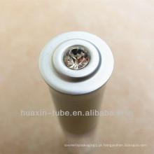 Garrafa de recipiente cosmético plástico transparente com tampa de escova
