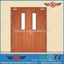 JK-FW9104 Doppelte Blatt-Wooden Entry Door wird im Notfall-Zugang verwendet