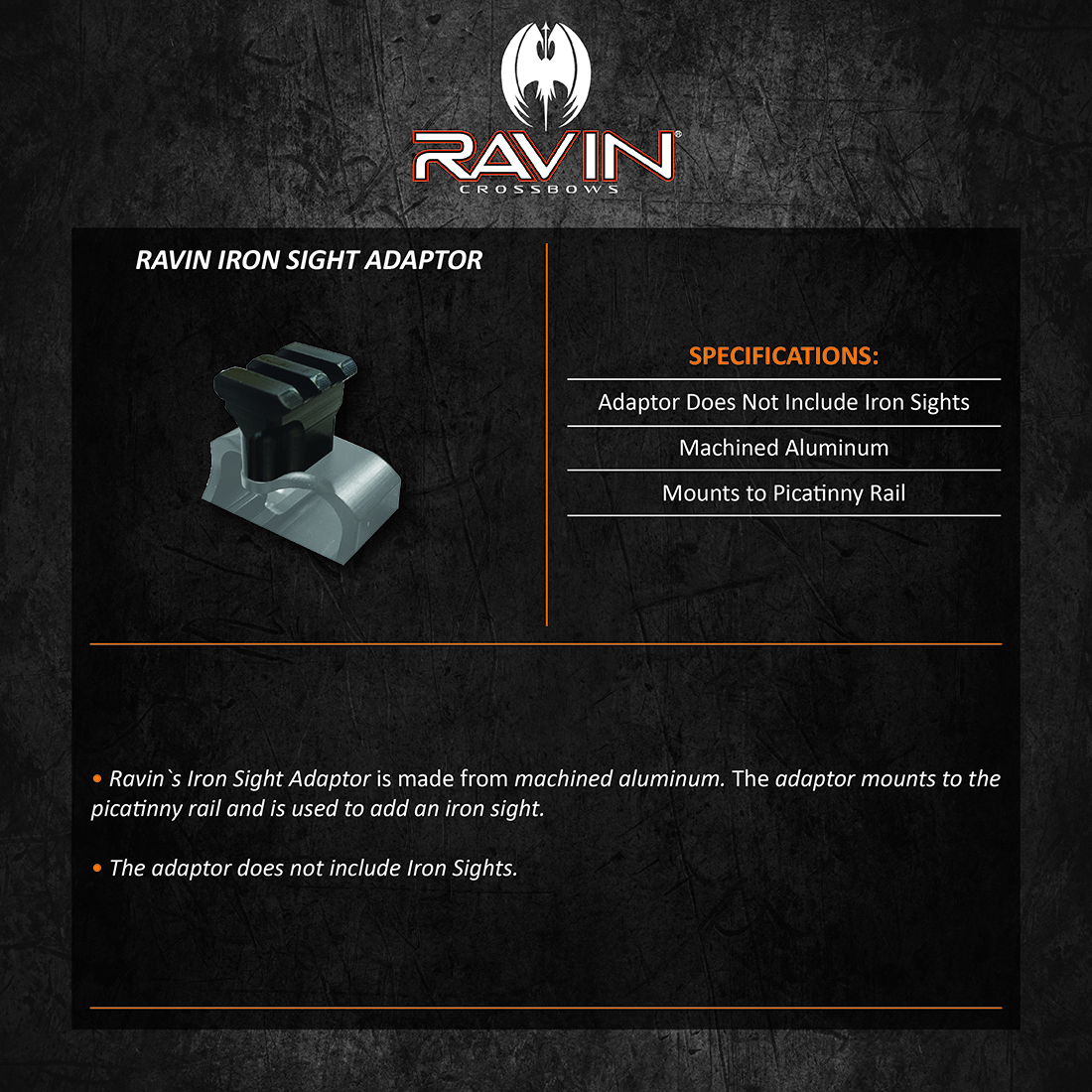 Ravin_Iron_Sight_Adaptor_Product_Description
