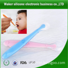 food grade silicone plastic ice cream tasting spoons/silicone baby spoon