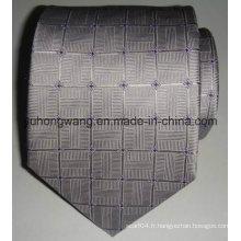 Cravate jacquard tissée en soie