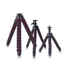 "Universal Metal+EVA Foam Octopus Tripod+1/4"" Connector For Car Phone Gopro Nikon Fuji DSLR Camera Nikon Accessories S/M/L size"
