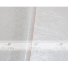 Color blanco Africano guinea brocade bazin riche jacuqard tela 100% algodón suave perfume