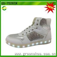 Популярные моды светодиодный свет вверх обувь для танцев (ГС-75267)