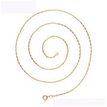 45165 xuping collier de mode collier en alliage de cuivre en or 18K collier simple pour la fête