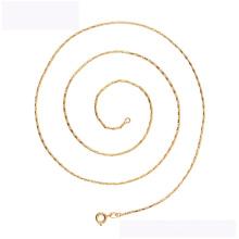 45165 xuping moda colar liga de cobre 18 K cor de ouro simples colar para festa