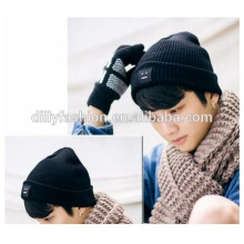 Latest mens beanie knitted winter caps solid color mens hat