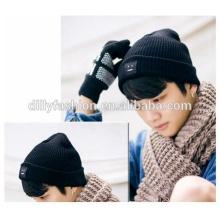 Mais recente, mens beanie knitted winter caps chapéu de mens da cor sólida