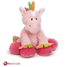 Personalizado de diseño OEM de peluche de color rosa musical caballo de juguete