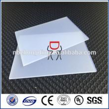 Feuille de PC givré en polycarbonate de 3 mm d'épaisseur pour feuille de polycarbonate diffuseur