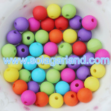 6-20MM Acrylic Plastic Rubbersized Style Round Gumball Beads