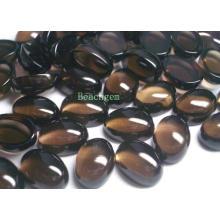 Cabujones de cuarzo ahumado piedras preciosas para joyería conjunto (SM0020)