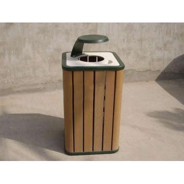 2014 High Quanlity Cheap Outdoor Environment WPC Dustbin/Trash Can