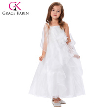 Grace Karin Spaghetti Straps Flower Girl Princess Bridesmaid Wedding Pageant Girls Party Dress CL010406-1