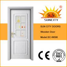 Elegant Design Wooden Glass Door for Bathroom (SC-W096)
