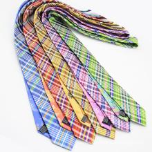 Cravate Skinny en soie importée de style coréen
